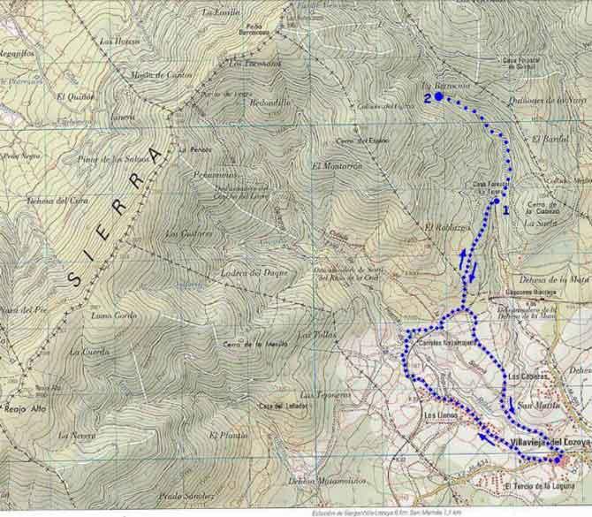 Mapa de Ruta de La Tejera