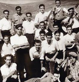 Mozos del pueblo de Villavieja del Lozoya