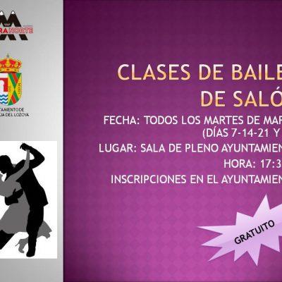Cartel clases de baile de salón